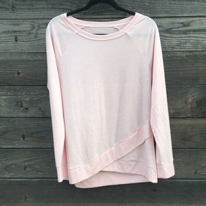 Sweaters - Cute pink lightweight workout lounge sweater